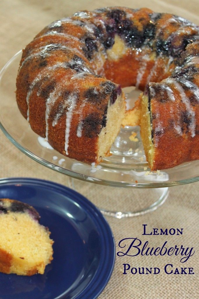 Lemon Blueberry Pound Cake | Cakes | Pinterest | Easy ...