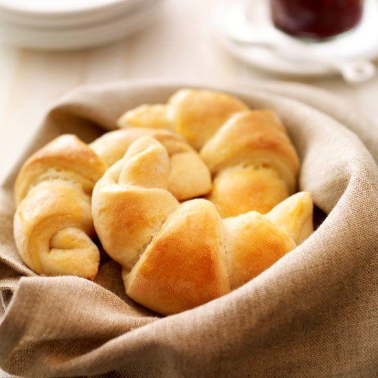 Croissants met platte kaas Recept | Dr. Oetker