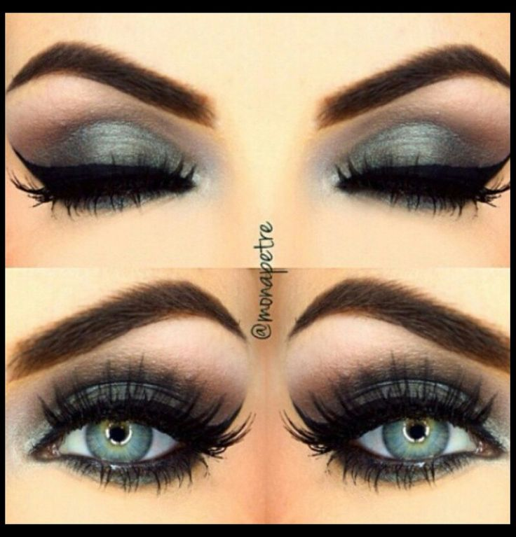I love green eyes with a smokey black or grey,they stand out so much
