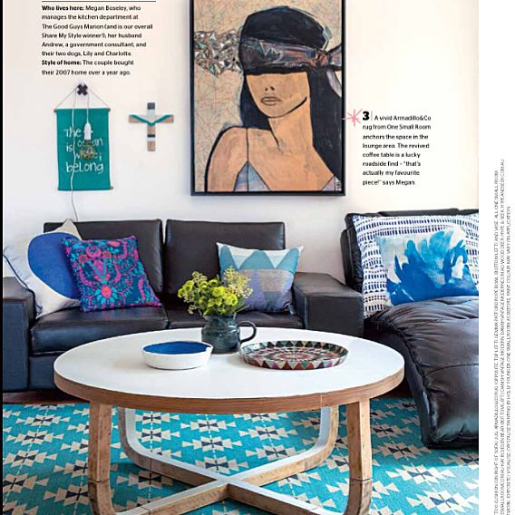 My living area by Megan Boseley featured @insideoutmag