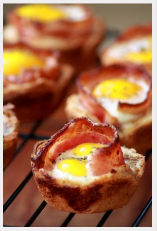 Bacon & Eggs in Toast Cups    #Christmas #Morning #Breakfast #Ideas #Dishes #Dish #Bacon #Eggs #Egg #Morning #Fried #Yoke #Toast