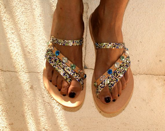 Luxurious Sandals/Strappy sandals/ Handmade leather by magosisters