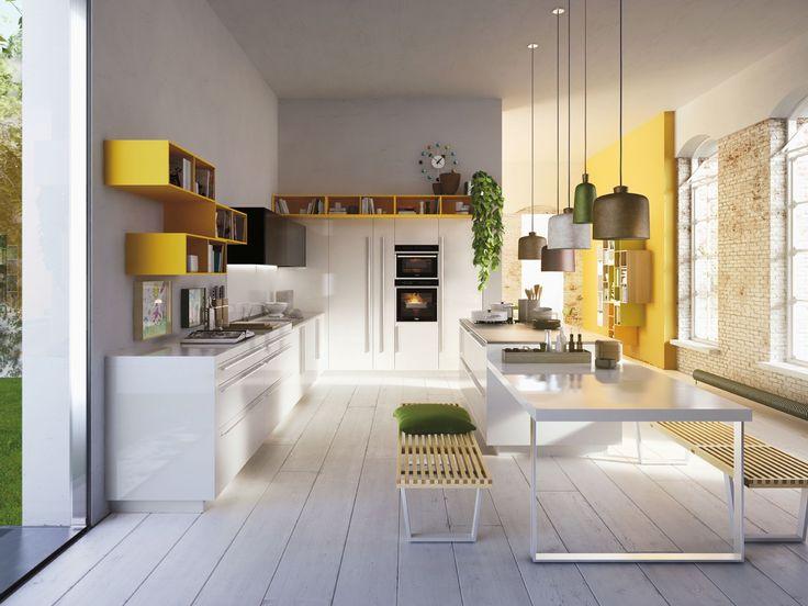 Cuisine design jaune