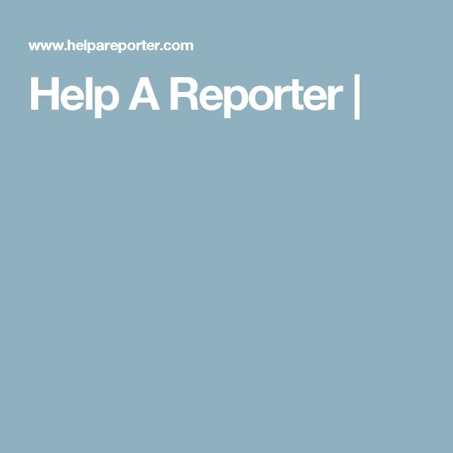 Help A Reporter |