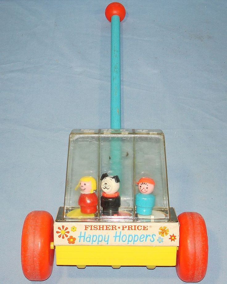 vintage toys | PRICE PUSH TOYS HAPPY HOPPERS #121 LITTLE GIRL DOG BOY - Vintage-Toys ...