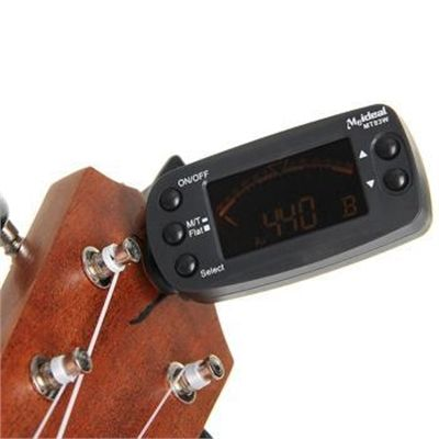2in1 Clip On Metronome Beat Tempo Tuner for Chromatic Guitar Bass Violin Ukulele