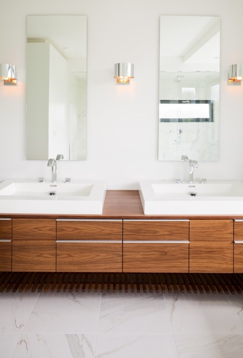 Impressive Natural Balance Technique Vancouver Modern Bathroom Decorating Ideas With Double Sinks Vanity Floating Minimal Neutral Colors Scone