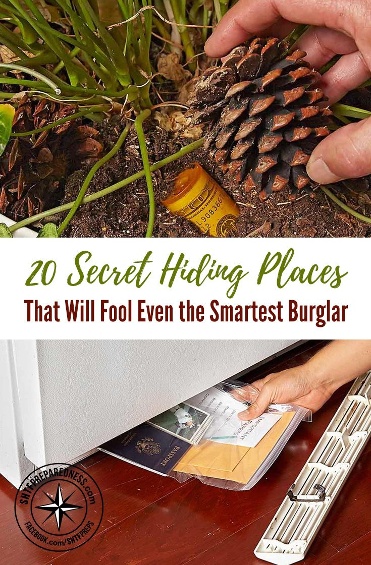 """20 Secret Hiding Places That Will Fool Even the Smartest Burglar — I've been on this really weird """"secret stash"""" binge lately. I've been surfing the internet just for different ideas on how to save money, and this article I am sharing with you today came up."""