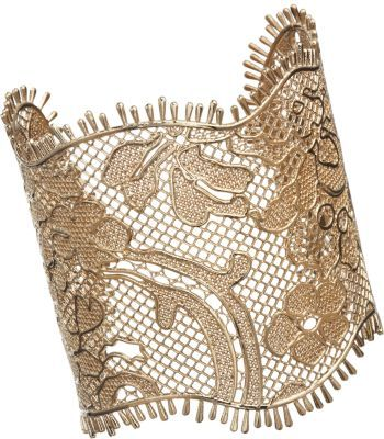 Givenchy Pale Lace Gold Cuff