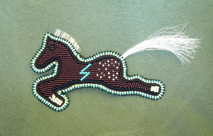 Beaded Horse Magnet Appaloosa Lakota Native American