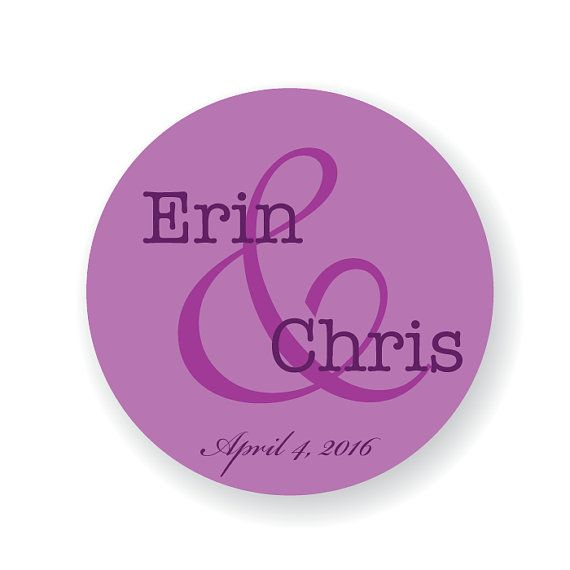 Custom Wedding Favor Stickers Save the Date Envelope Seals Candy Buffet Labels  >>SIZES<< Stickers are available in 3 sizes: 3 stickers (6 per