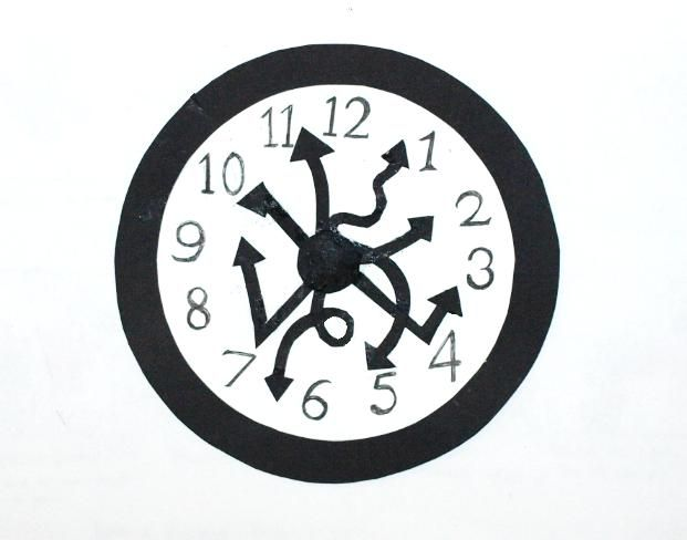 Crazy Clocks on Clip Art Numbers 1000