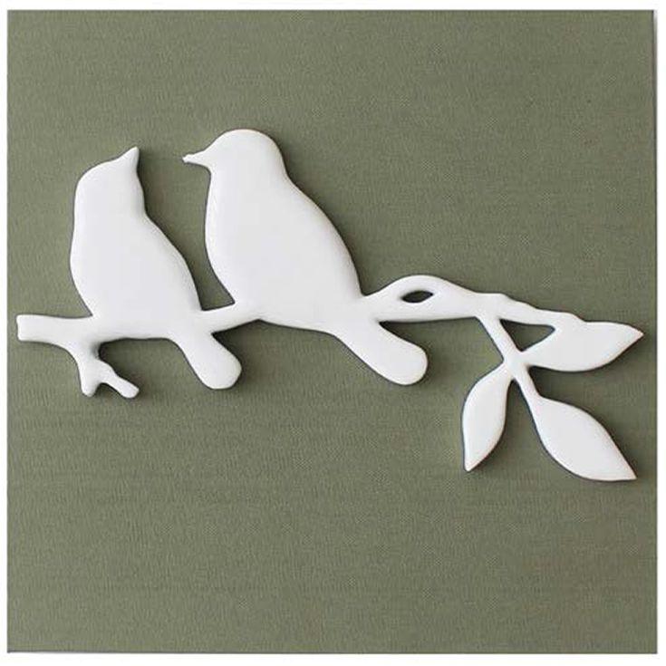 Beautiful wall art The 3D birds of canvas