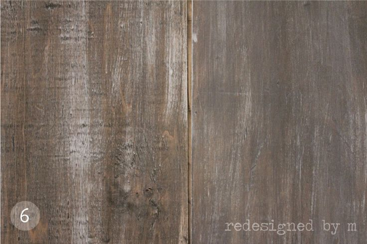 how to make stained wood look distressed