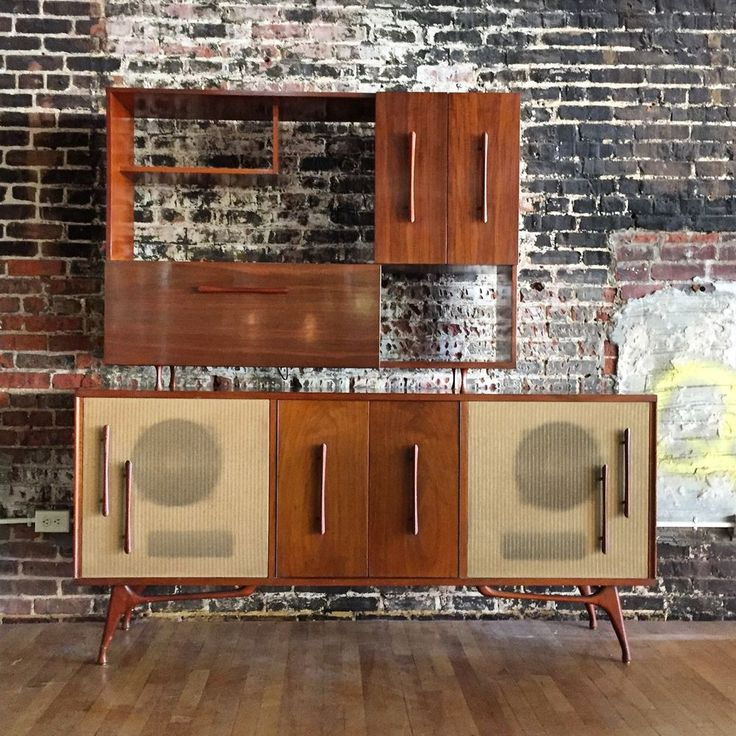 Mid Century Modern Bogen Stereo Console Credenza Cabinet AM/FM Turntable  Bar Vtg | Audio, Consoles And Mid Century
