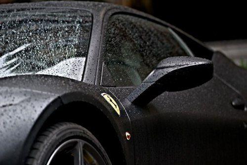 : Black Ferrari, Ferrari 458, Exotic Riding, Cars Girls, Ferrari Black, Exotic Cars, Gears, Girls Style, Ferrari Wet