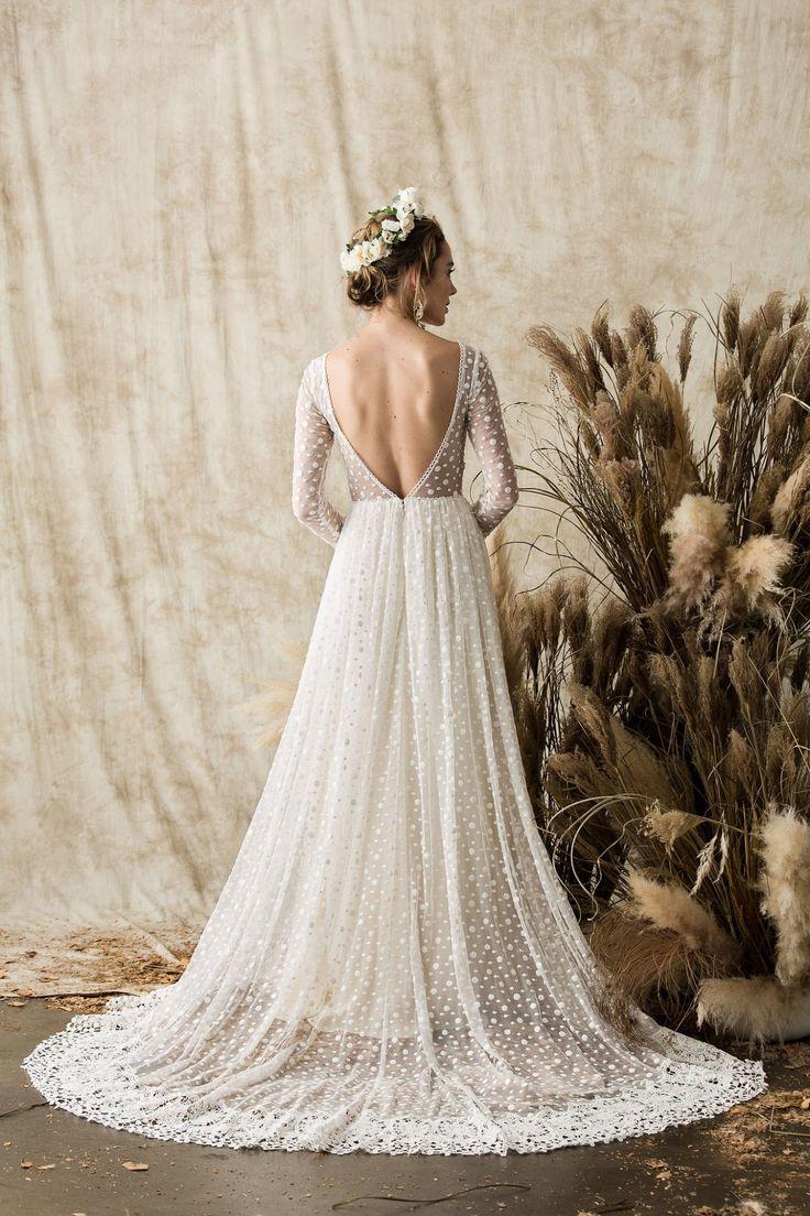 Miranda Langarm Spitze Brautkleid | Träumer und Liebhaber   – Wedding Dresses