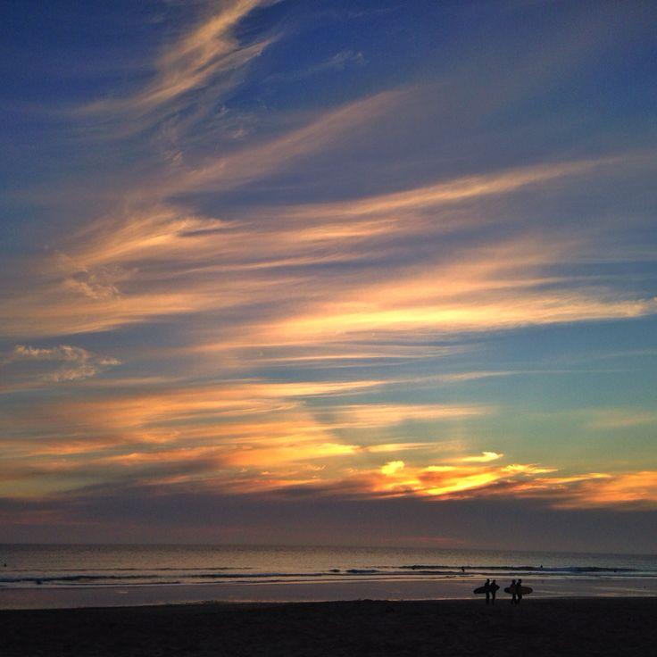 Surf, sunset...El Palmar