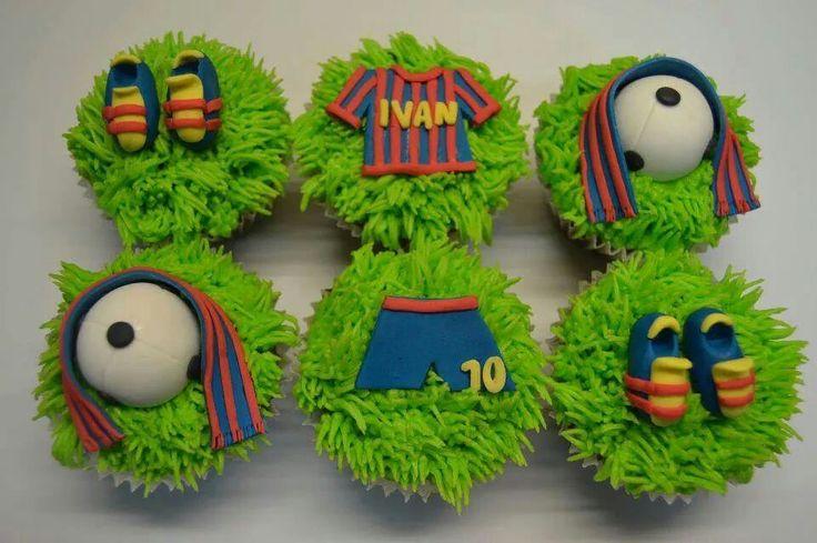 Fútbol cupcakes