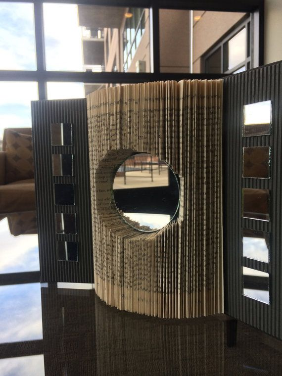 Folded Book Art / Origami Book / 3D Book Sculpture / Folded