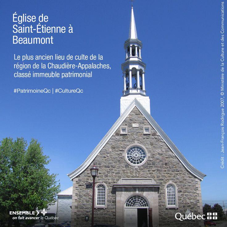 Classement pour l'église de Saint-Étienne à Beaumont et certains de ses biens mobiliers. L'église de Saint-Étienne a été construite entre 1726 et 1739 et a été ouverte au culte en 1733. L'intérêt patrimonial de l'église repose sur ses valeurs historique, architecturale et artistique. #PatrimoineQc #RPCQ