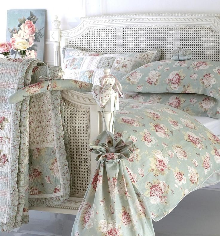 Duck Egg Blue double and king patchwork country style Quilt