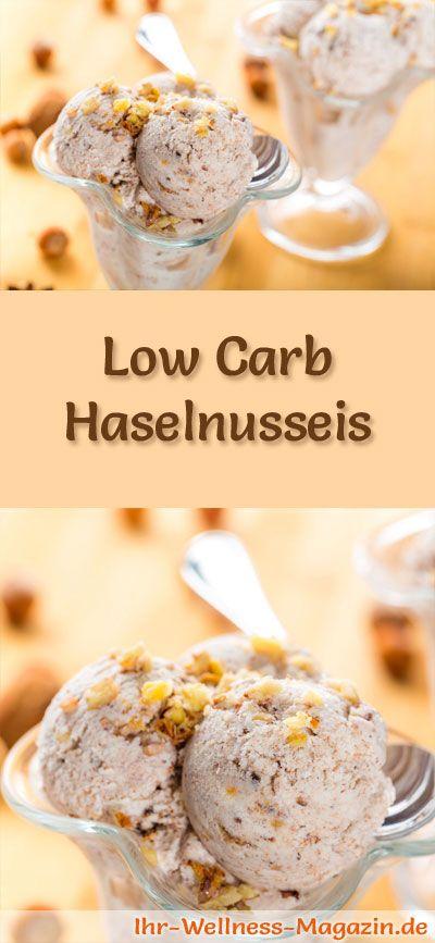 Rezept um Low Carb Haselnusseis selber zu machen - ein einfaches Eisrezept für kalorienreduzierte, kohlenhydratarme und gesunde Eiscreme ohne Zusatz von Zucker ...