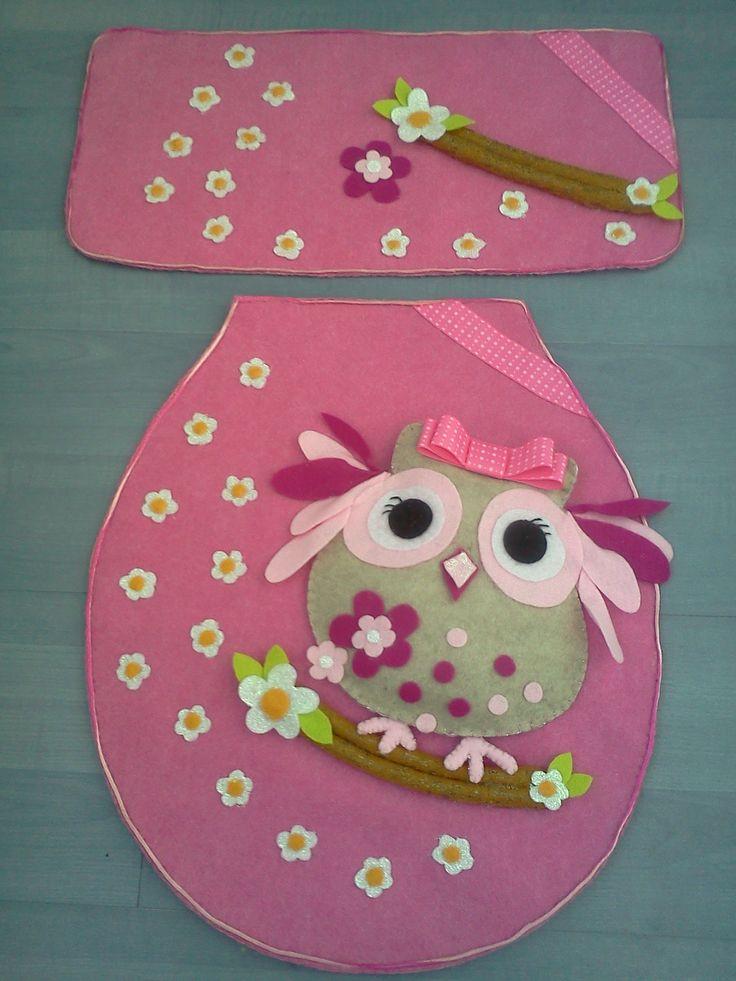 Owl Felt Dress for the Bathroom