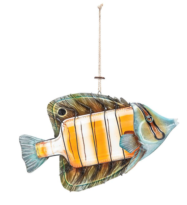 Recycled Bottle Angelfish - Wind and Weather: Decor Ideas, Bottle Angelfishmeasur, Accent Fish Decor, Windandweath Com, Recycled Bottles, 14 99 Recycled Bottle, Crafts Bottle, Recycled Ideas, Parties Ideas