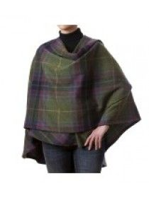 100% Lambswool Cape Multi Purple 613