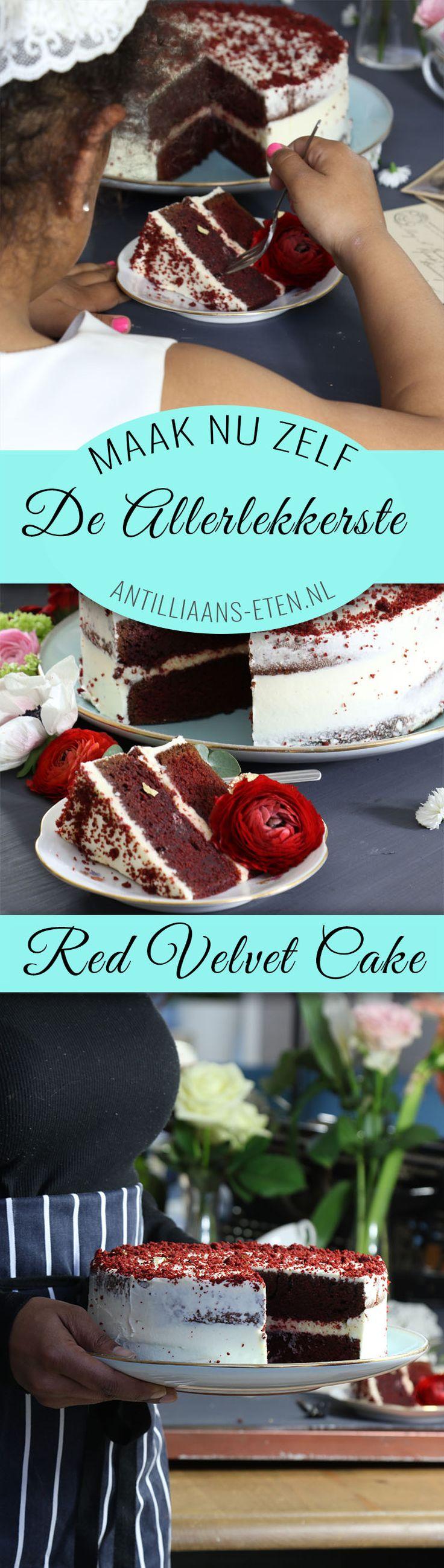 Maak zelf de allerlekkerste, traditionele RED VELVET taart (bolo di red velvet) met ons recept!