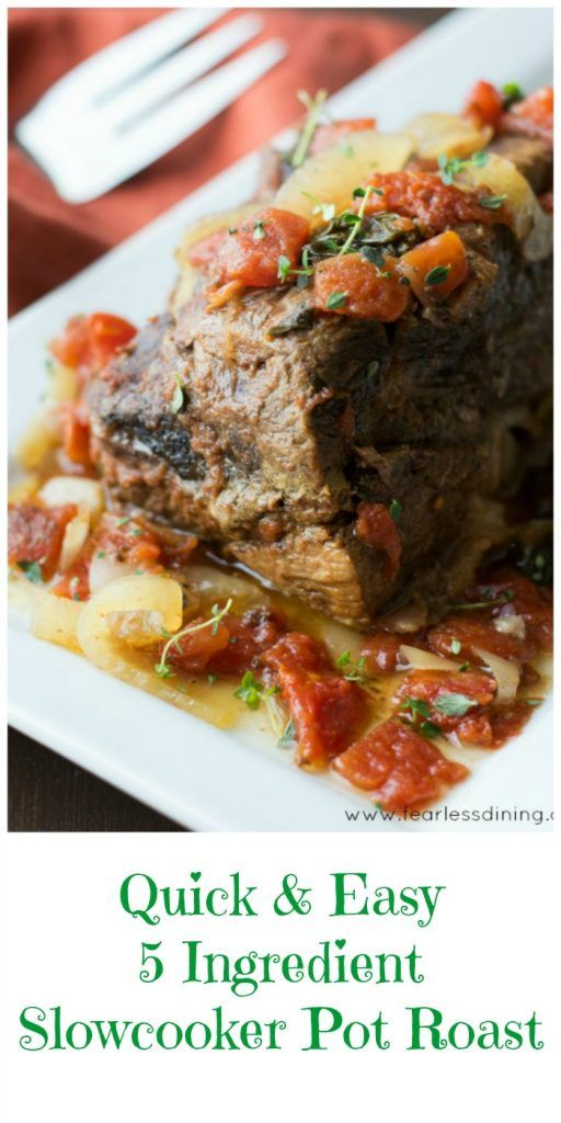 Quick and easy 5 ingredient slow cooker pot roast recipe Quick and healthy slow cooker recipes