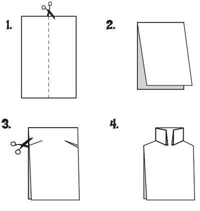 Открытка рубашка c пошаговой инструкцией