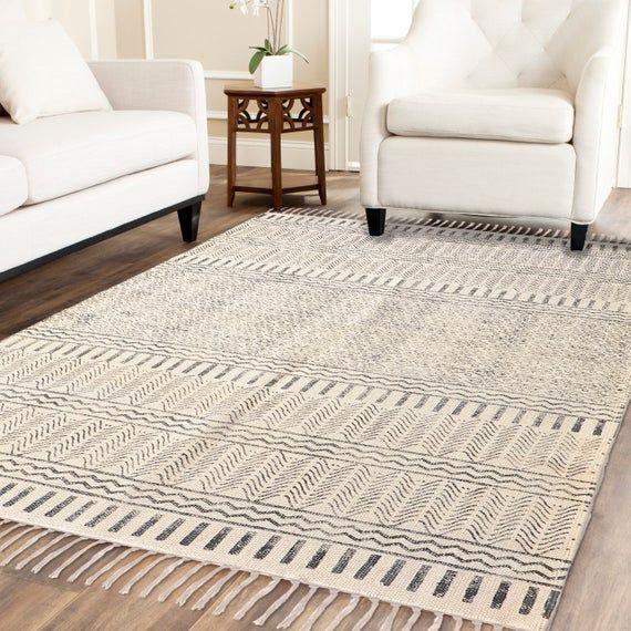 Handblock Printed Rug Indian Rug Large Rug Rug Runner 4x6 Feet Rug Blue Rug Floor Rug Area Rug Rustic Rug Woven Rug Carpet Rugs On Carpet Indian Rugs Rustic Rugs