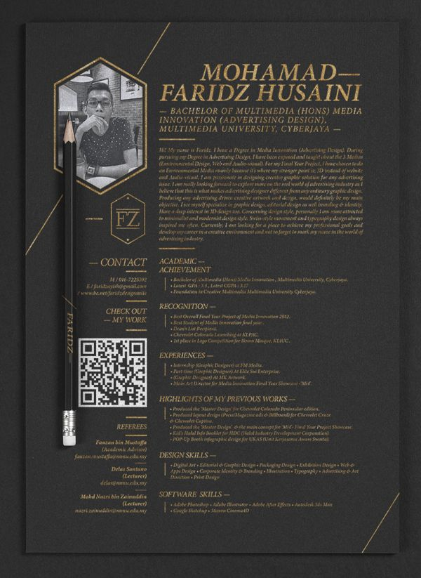Collection of 25 Creative Resume Templates Examples