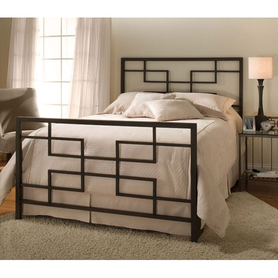 I wonder if I could do something like this out of pipes? ~ Hillsdale Terrace Wrought Iron Bed ~