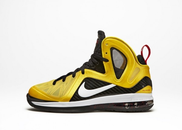 LeBron 9 Yellow Nike basketball shoes for NBA Champion & MVP King James.