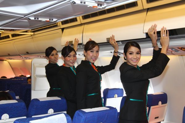 Thailand's new budget airline has hired transgender ladyboy flight attendants.    The company's chairman, Peter Chan, hopes the move will set his company apart from its competitors, while opening opportunities for the 'third sex'.    Thailand has one of the world's largest populations of ladyboys, with many holding positions as shop assistants in salons and cosmetic stores.    Although the country is known for is conservative views, the popula