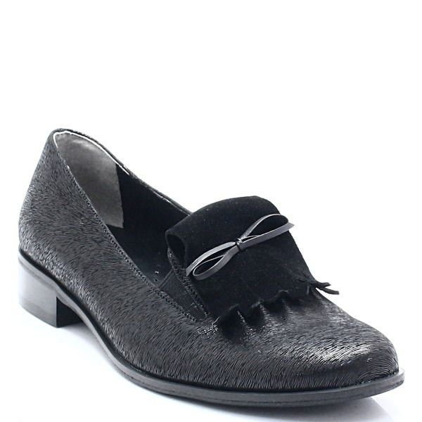 Blu 801210 Czarny Skorzane Lordsy Z Ozdoba Buty Damskie Lordsy Pora Roku Damskie Wiosna Pora Roku Damskie Lato Pora Roku Da Loafers Shoes Fashion