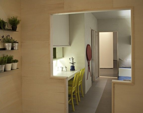 small space living designed by Italian prisoners