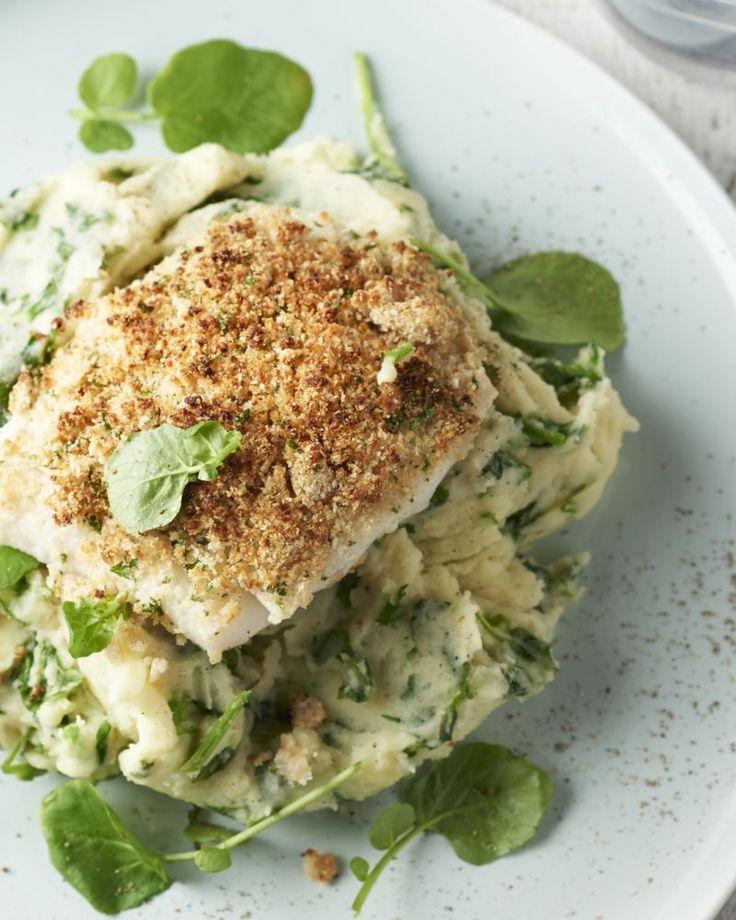 Vlaswijting of pollak is een heerlijk stevige witte vis uit de Noordzee. Hij is ideaal om in de oven te garen, met een heerlijk peterselie-mosterdkorstje.