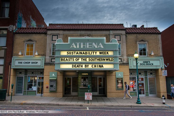 Athena Cinema Marquee at Dusk on Court Street in Athens Ohio | Flickr - Photo Sharing!