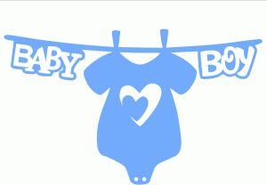 Silhouette Online Store - View Design #60879: baby boy banner