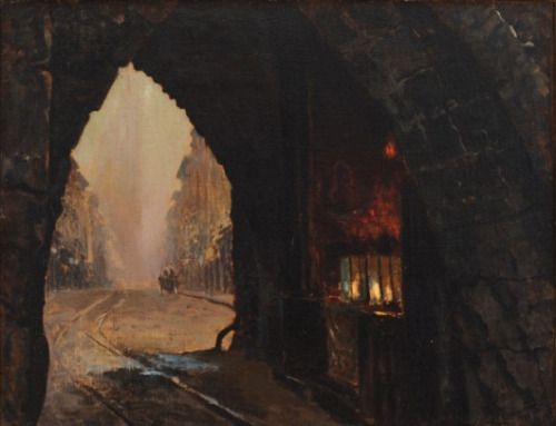 thepolishstufflove:  LeonJanWyczółkowski(Polish,1852-1936)  (Note: Gate Florianska in the Regional Museum in Bydgoszcz, Poland. Wyczółkowski was a leading artist in the Young Poland movement and the principal representative of Polish Realism in the art of the period. A teacher of art, he founded the Society of Polish Artists in 1897. – athousandwinds.)