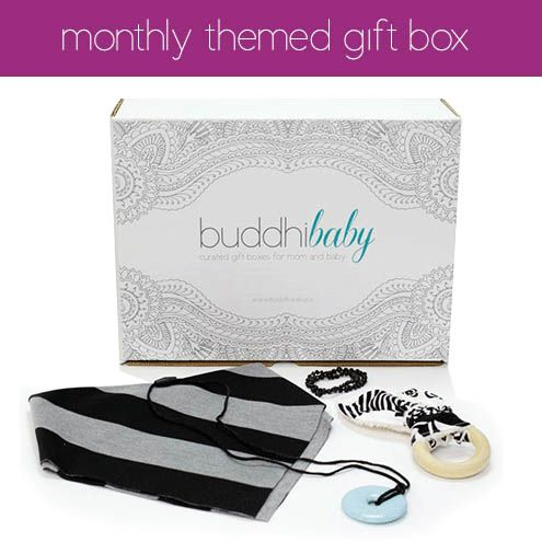 Introducing our very first monthly themed buddhiBaby box!  All about teething!