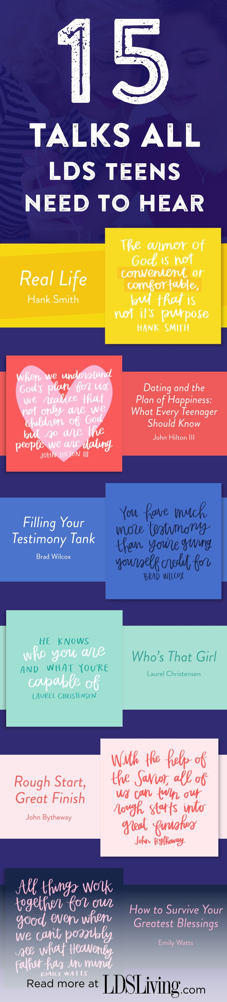 15 Talks All LDS Teens Need to Hear More