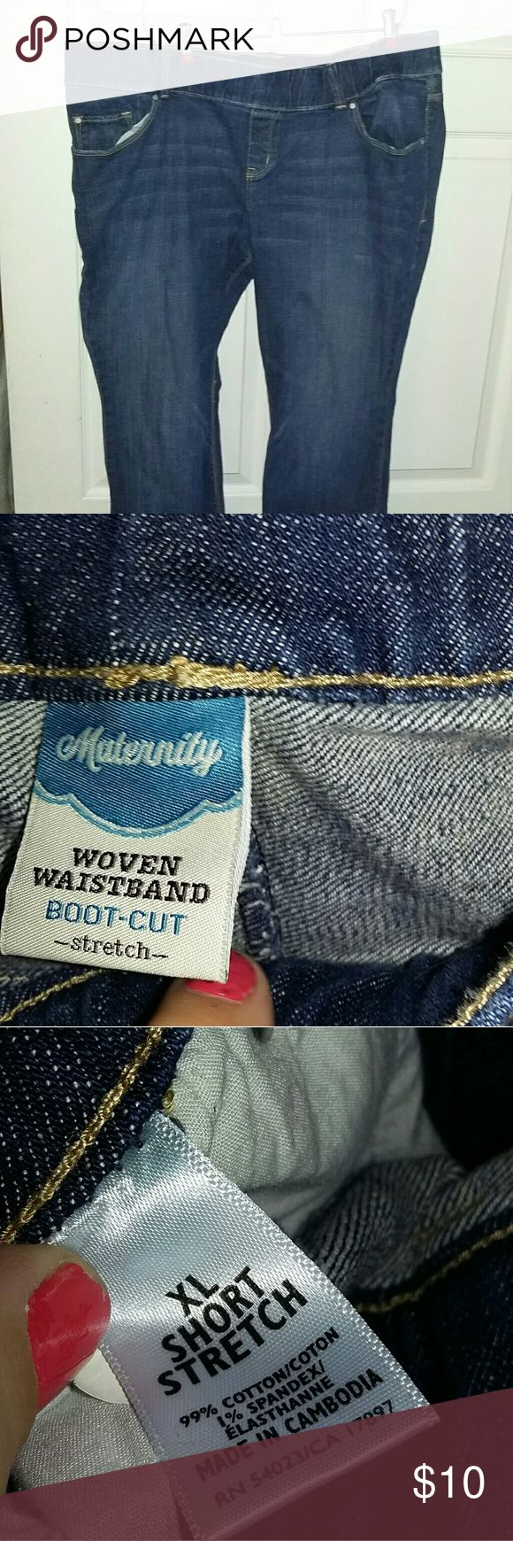 Old Navy maternity Jeans XL short Like new pair of old Navy maternity Jeans size XL short. They have stretch to them. Old Navy Jeans Flare & Wide Leg