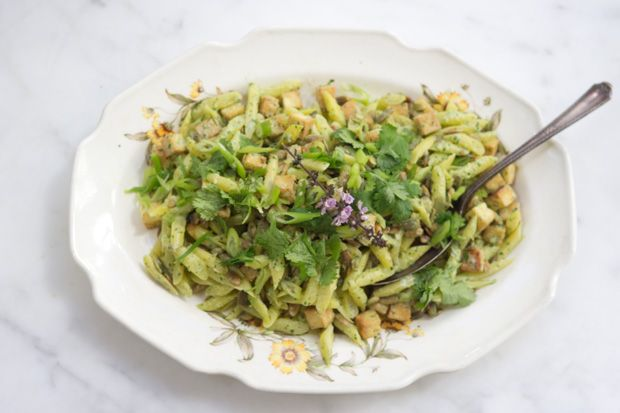 Yellow Bean Salad Recipe with coconut dressing