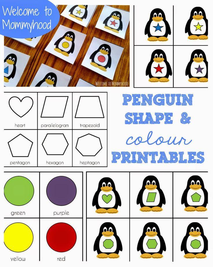 Winter activities for kids: FREE penguin printables