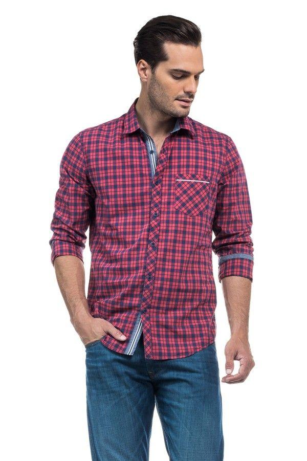 7cd0322762 Catálogo Salsa para hombre Verano 2016- Camisetas de cuadros ...